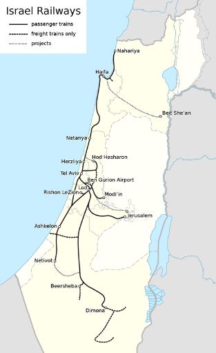 "Quelle: Wikipedia ""Israel Railways"""